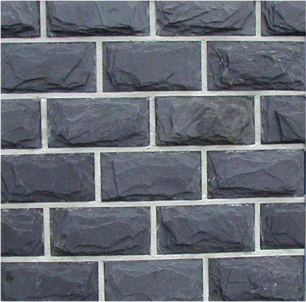 first image for Blue / Black mushroom slate wall cladding