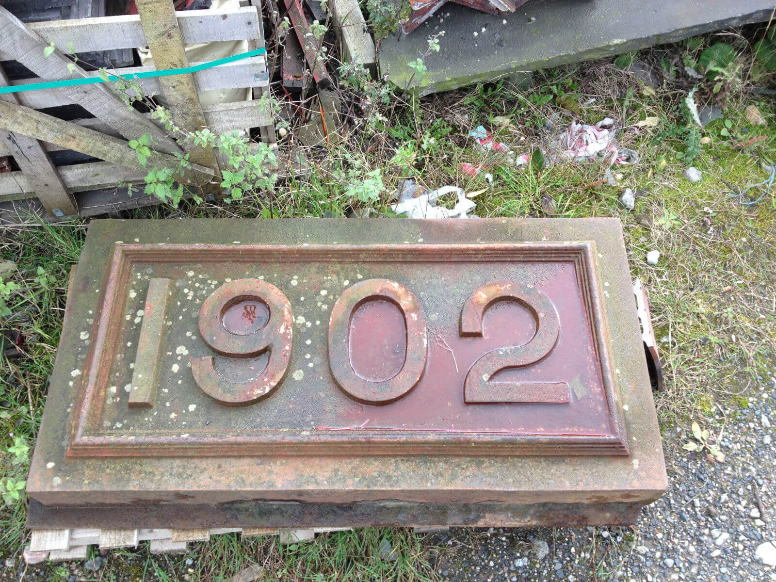 Image for Large cast iron date stone