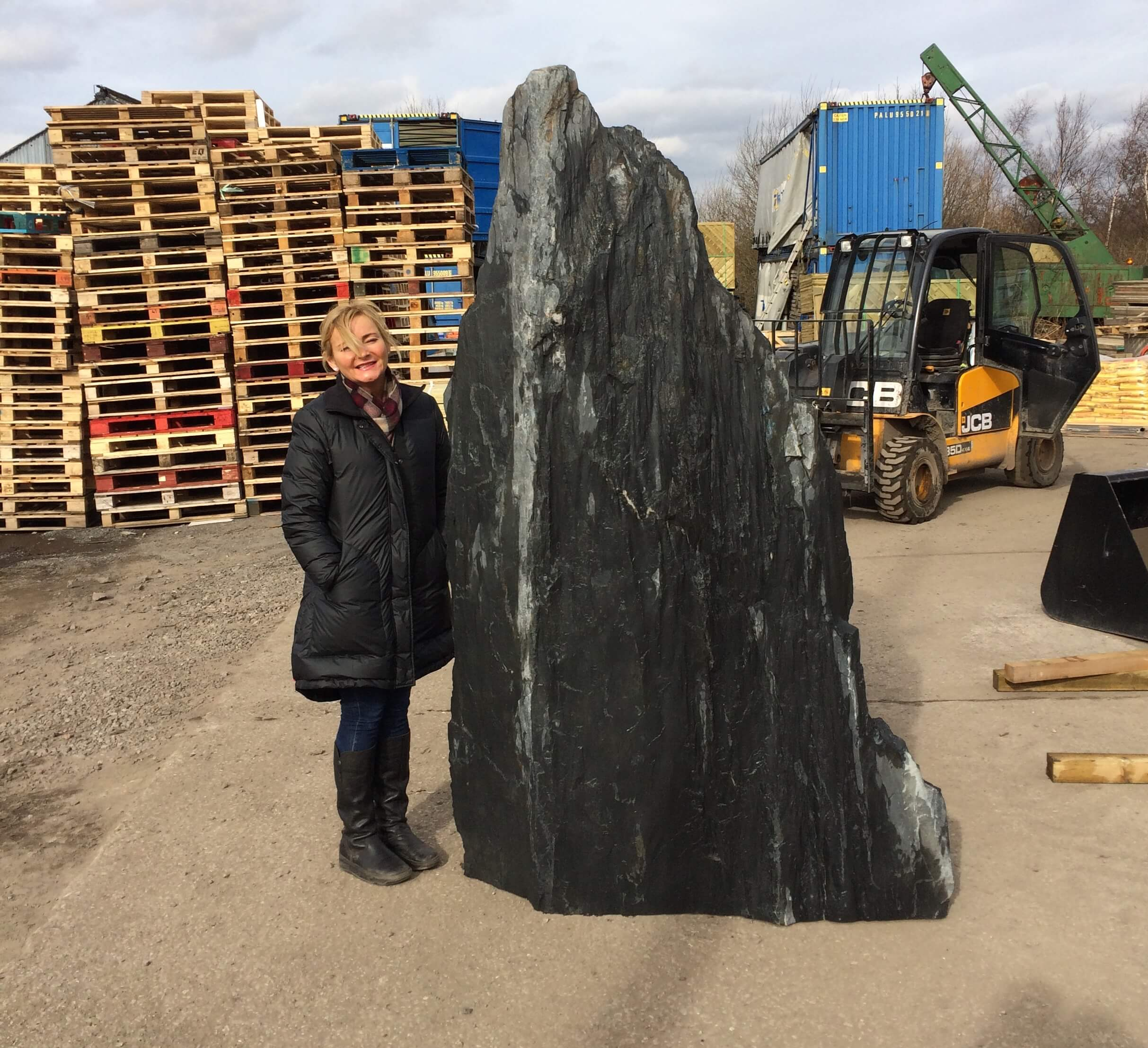 first image for 2.35m Slate monolith (M2)