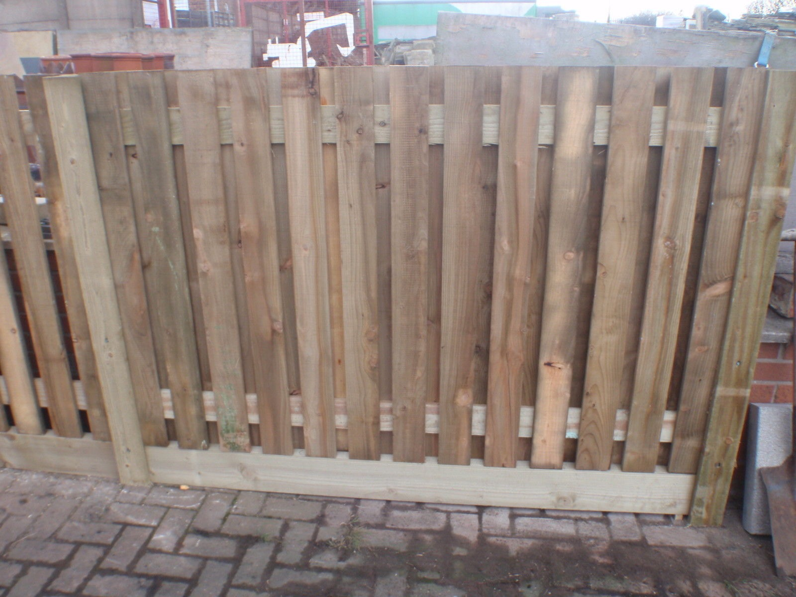 Image for Double Side palisade fence panel