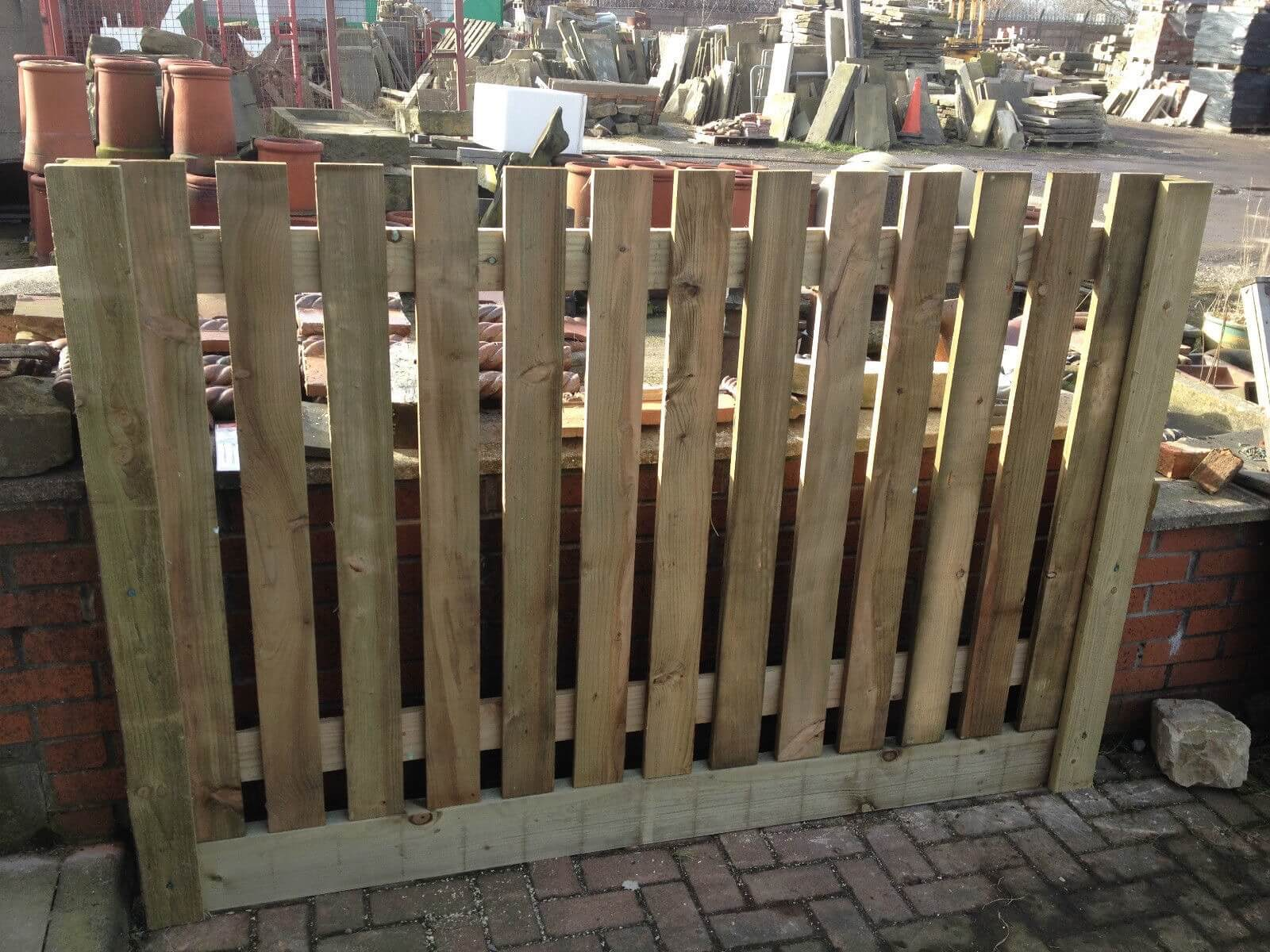 Image for Single Side palisade fence panel