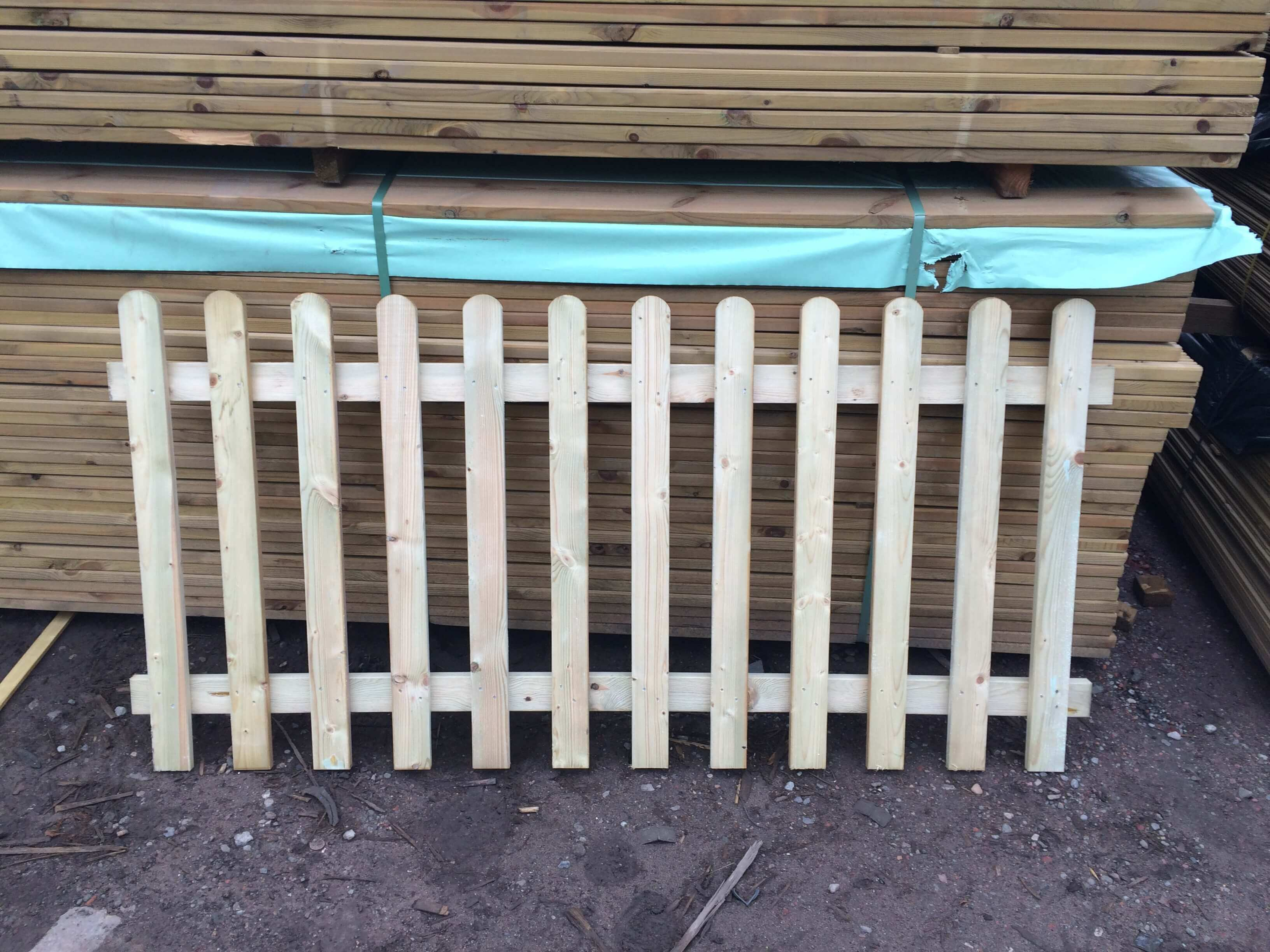 Image for Garden Picket fence panel