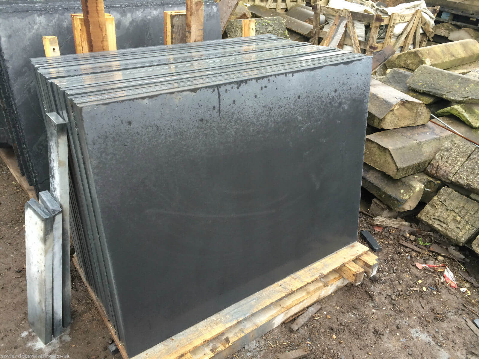 Third image for Honed slate Slabs