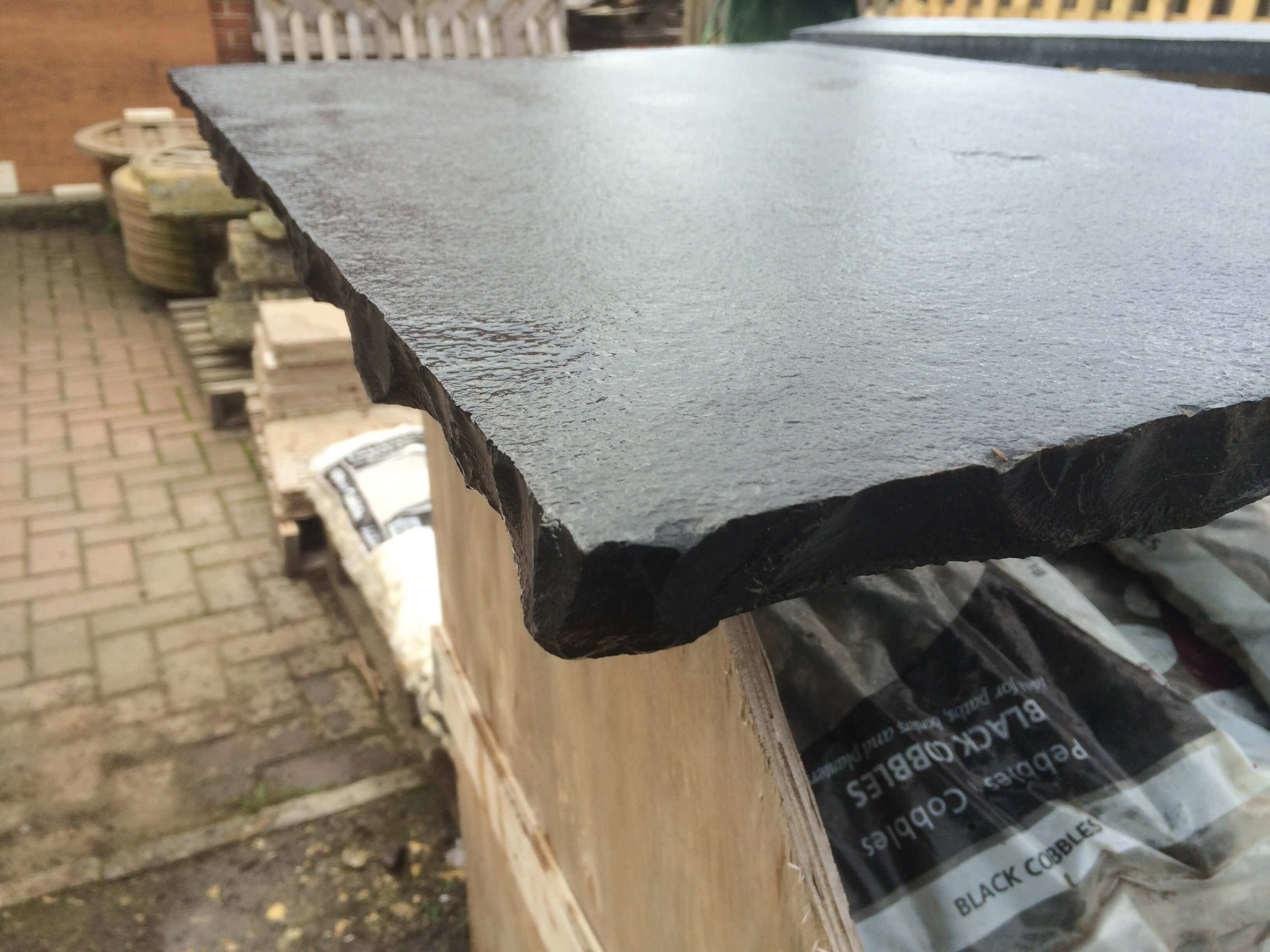 Third image for Black Limestone Hearth Slab