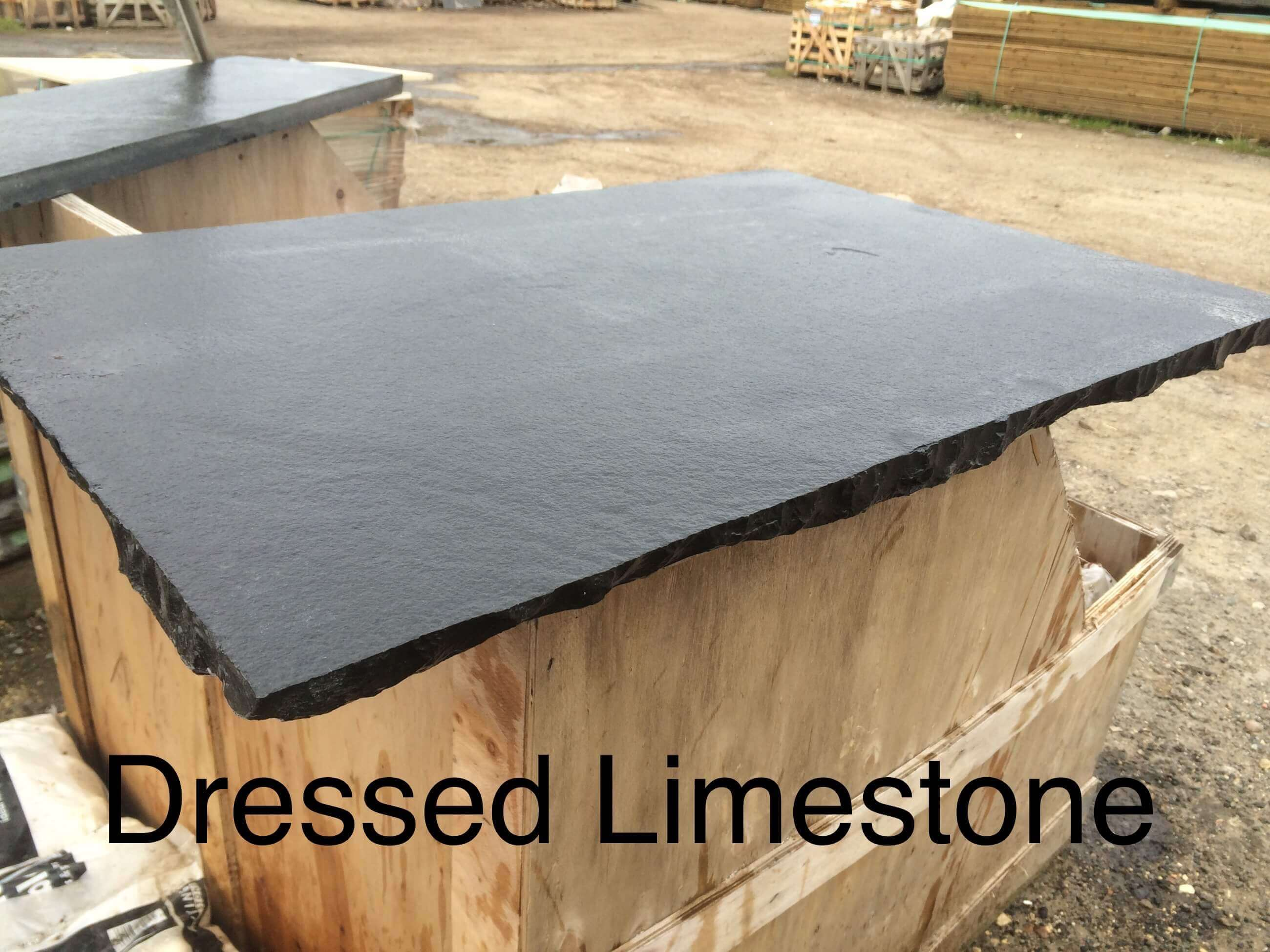 Image for Black Limestone Hearth Slab