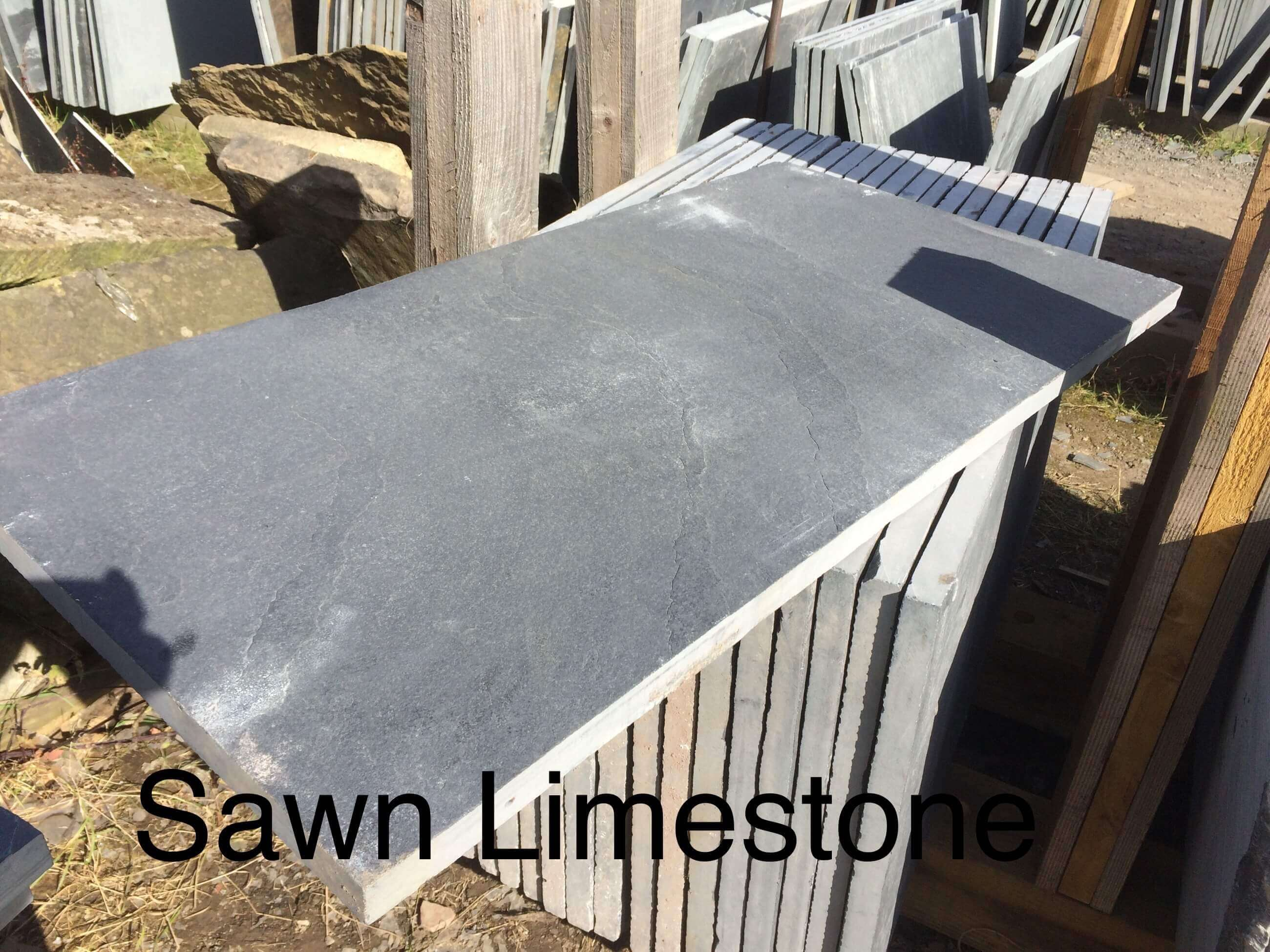 Second image for Black Limestone Hearth Slab