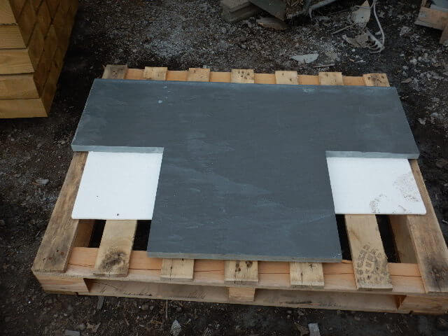 Fifth image for Bespoke Riven Slate Hearth