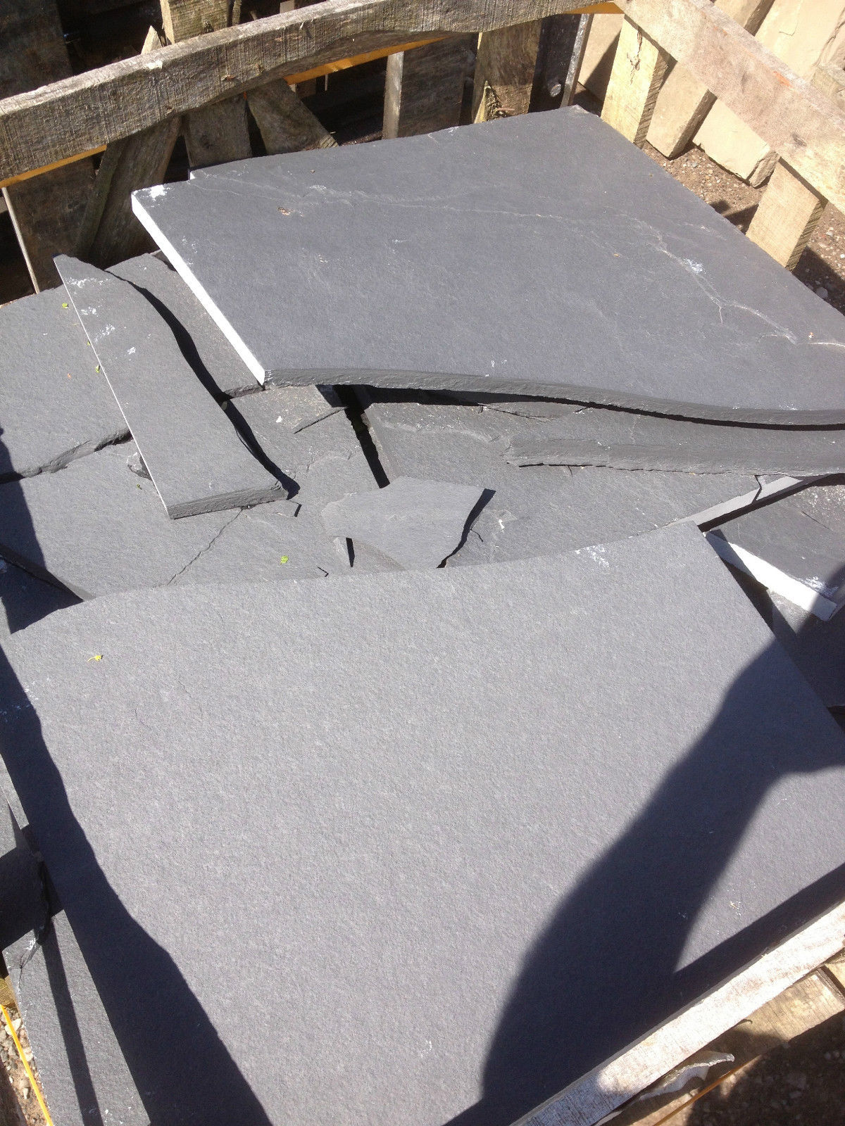 first image for Black limestone crazy paving