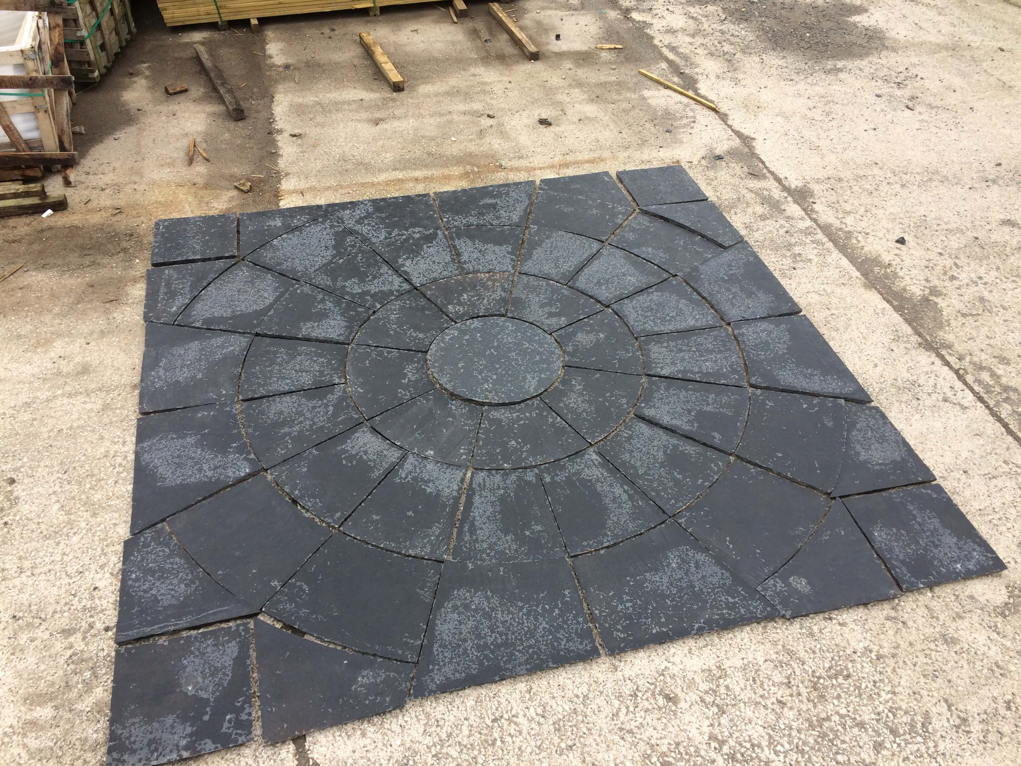 first image for Black limestone circle kit (squared off)