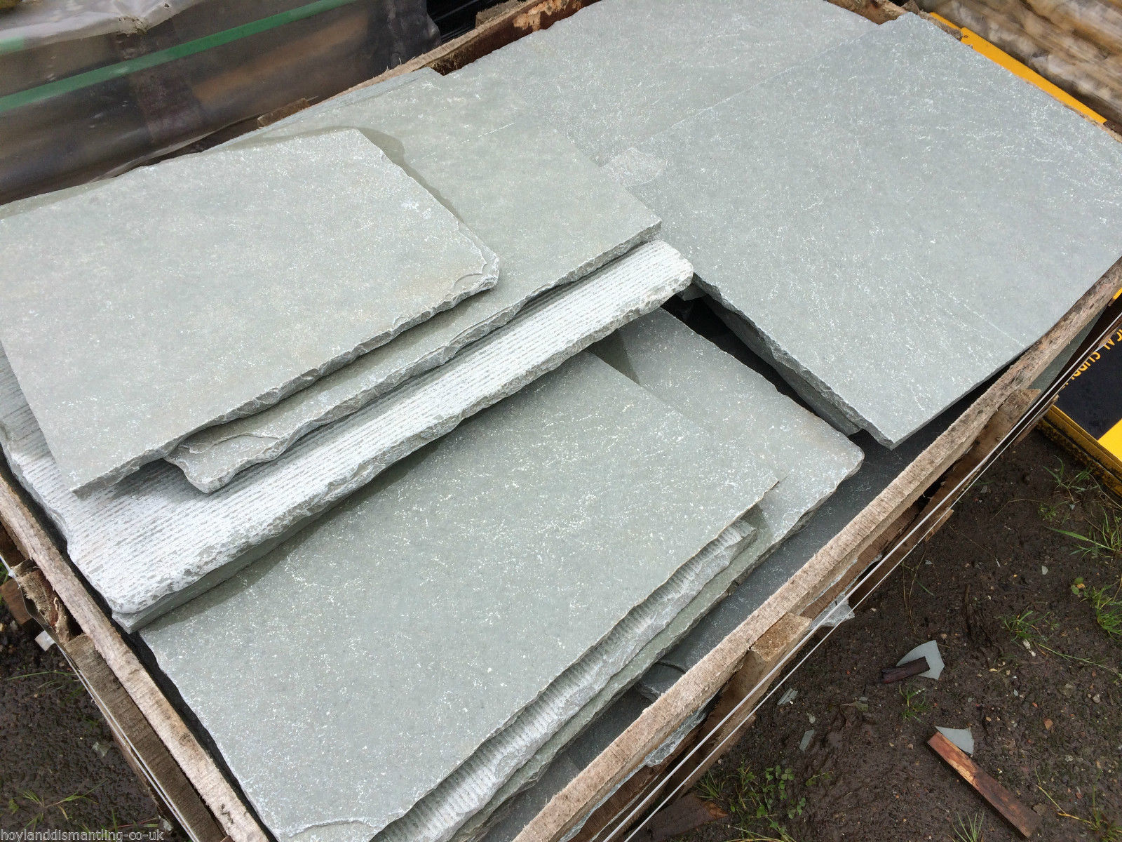 Image for Blue limestone crazy paving