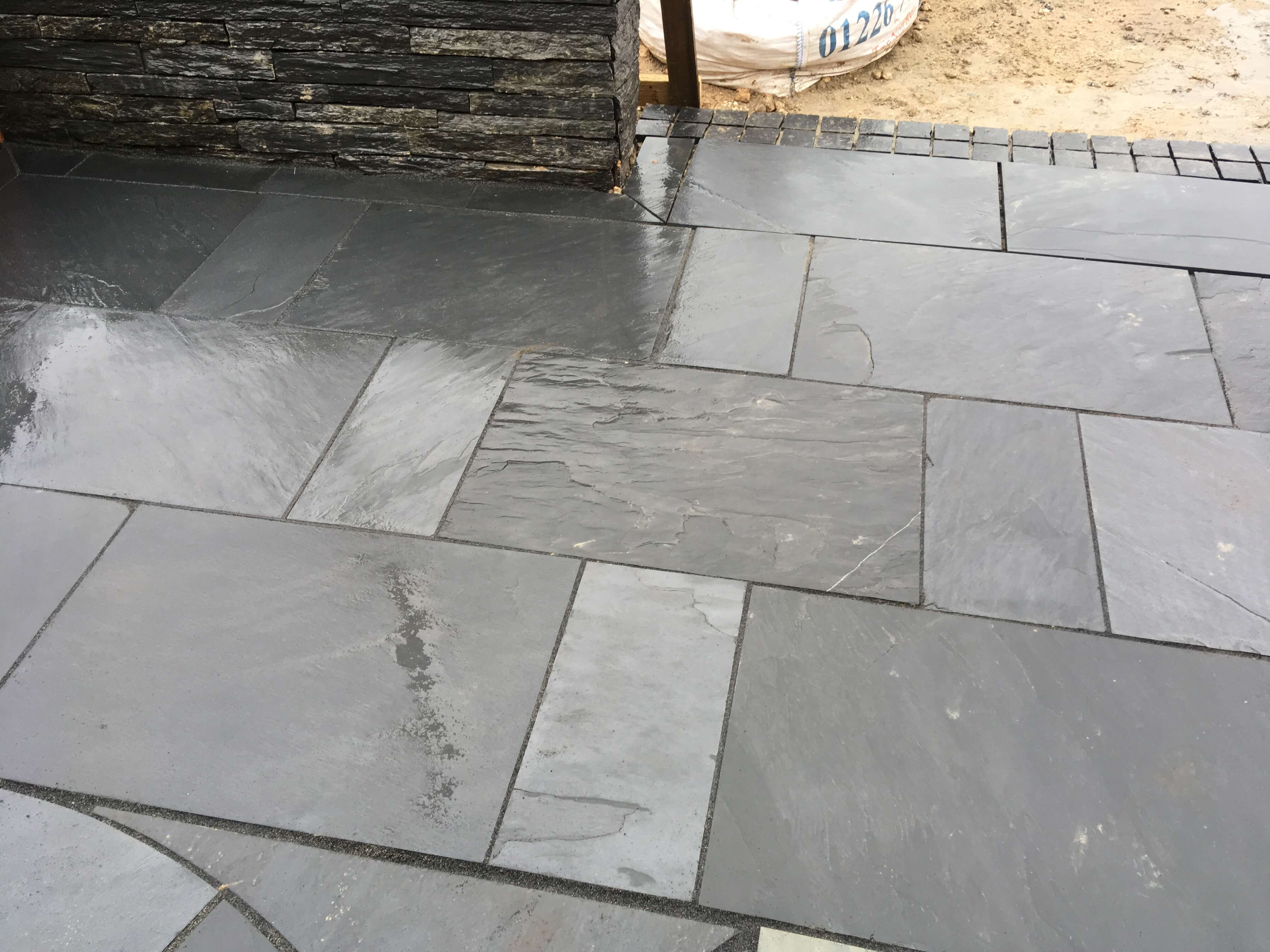 Third image for Blue / Black slate paving