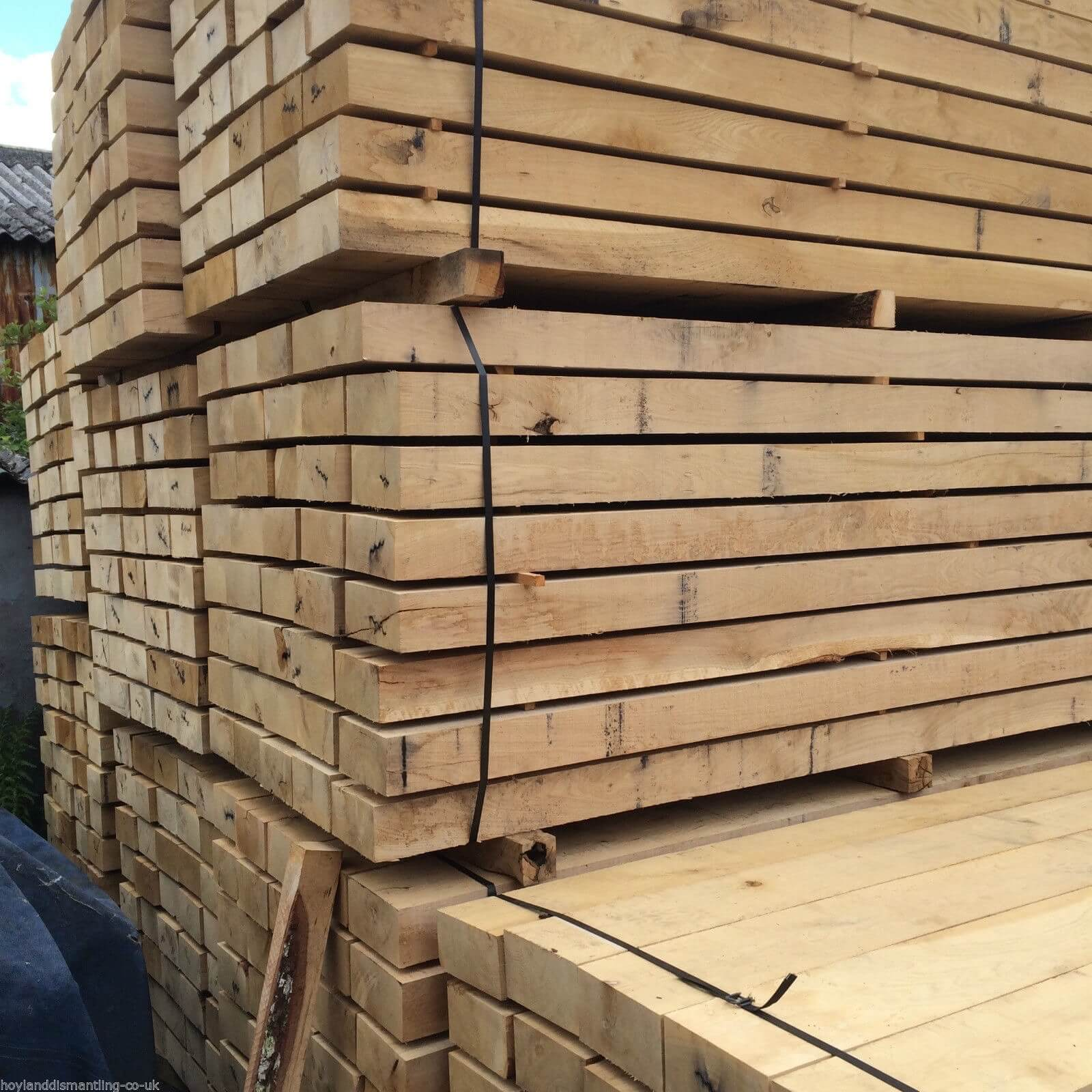 Image for New French Oak sleepers (2.4m)