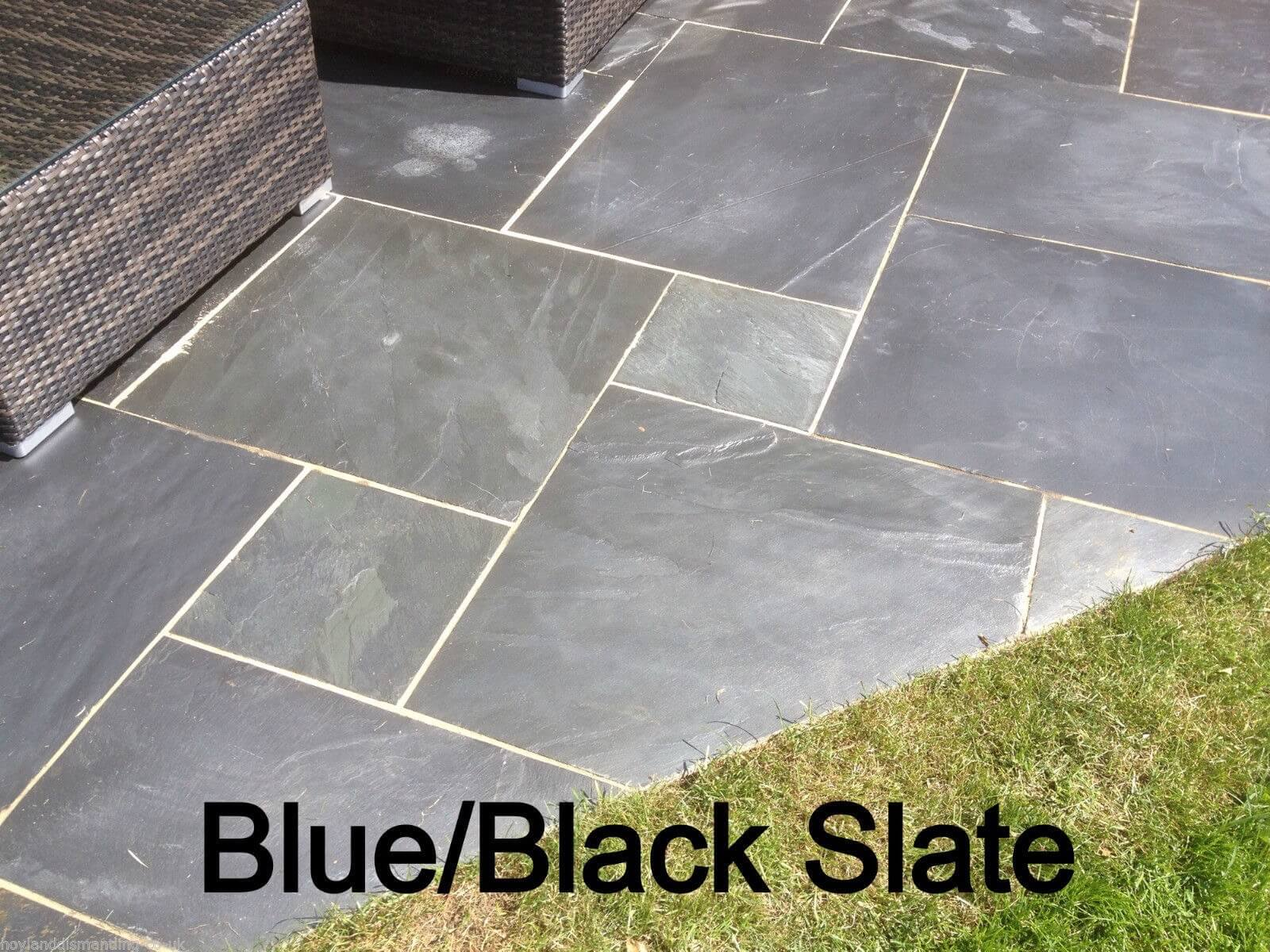 first image for Blue / Black slate paving