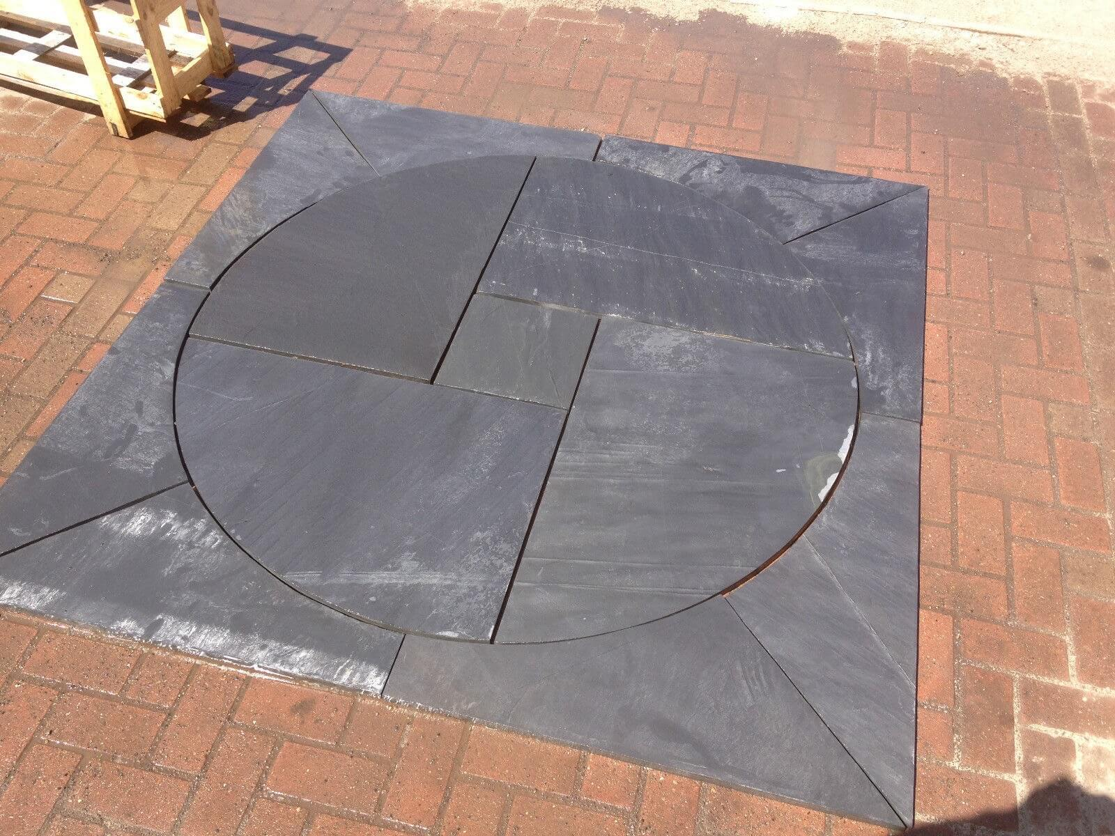 Image for Blue / black slate circle 1.8m x 1.8m