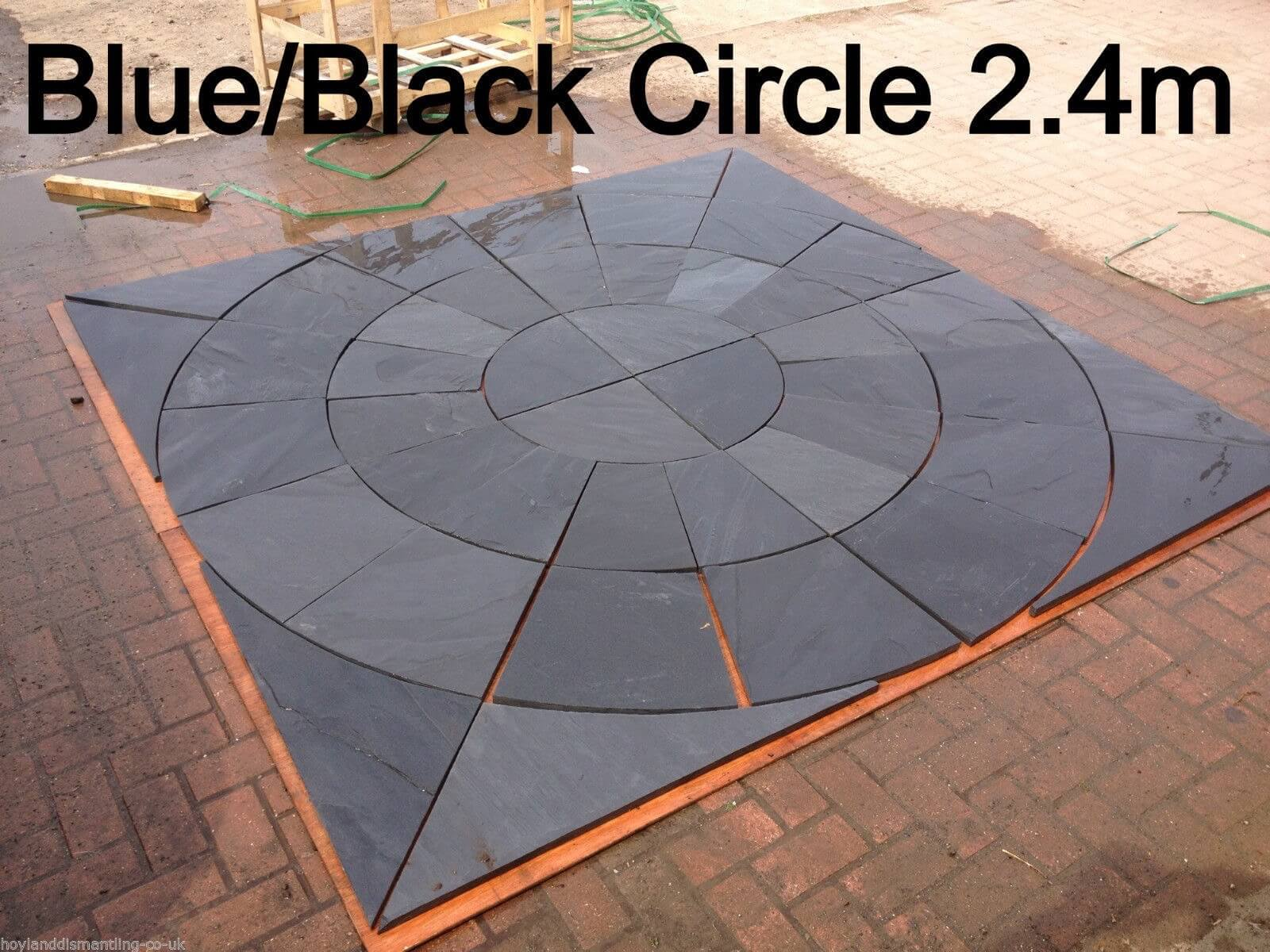 Image for Blue / black slate circle 2.4m
