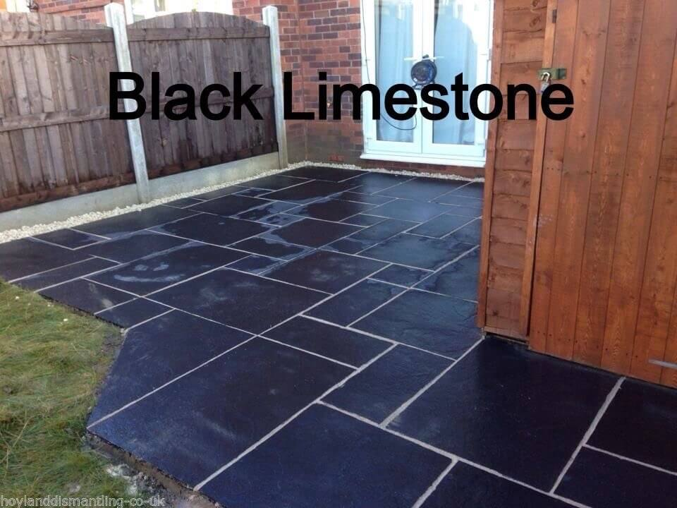 Image for Premium Black limestone paving