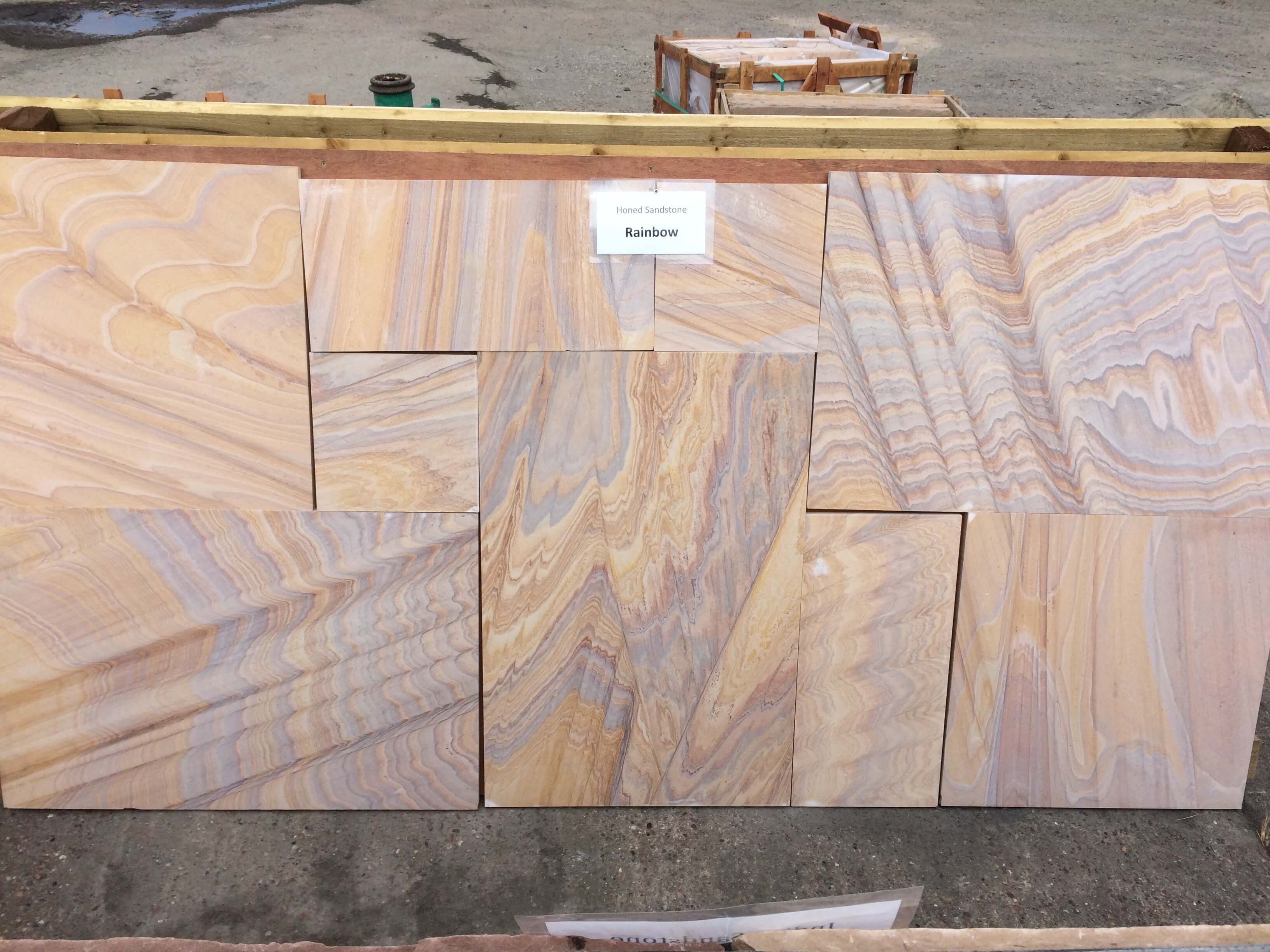 first image for Rainbow Sawn and Honed Stone