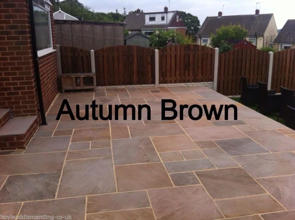 Autumn Brown Indian Sandstone Paving Products Hoyland