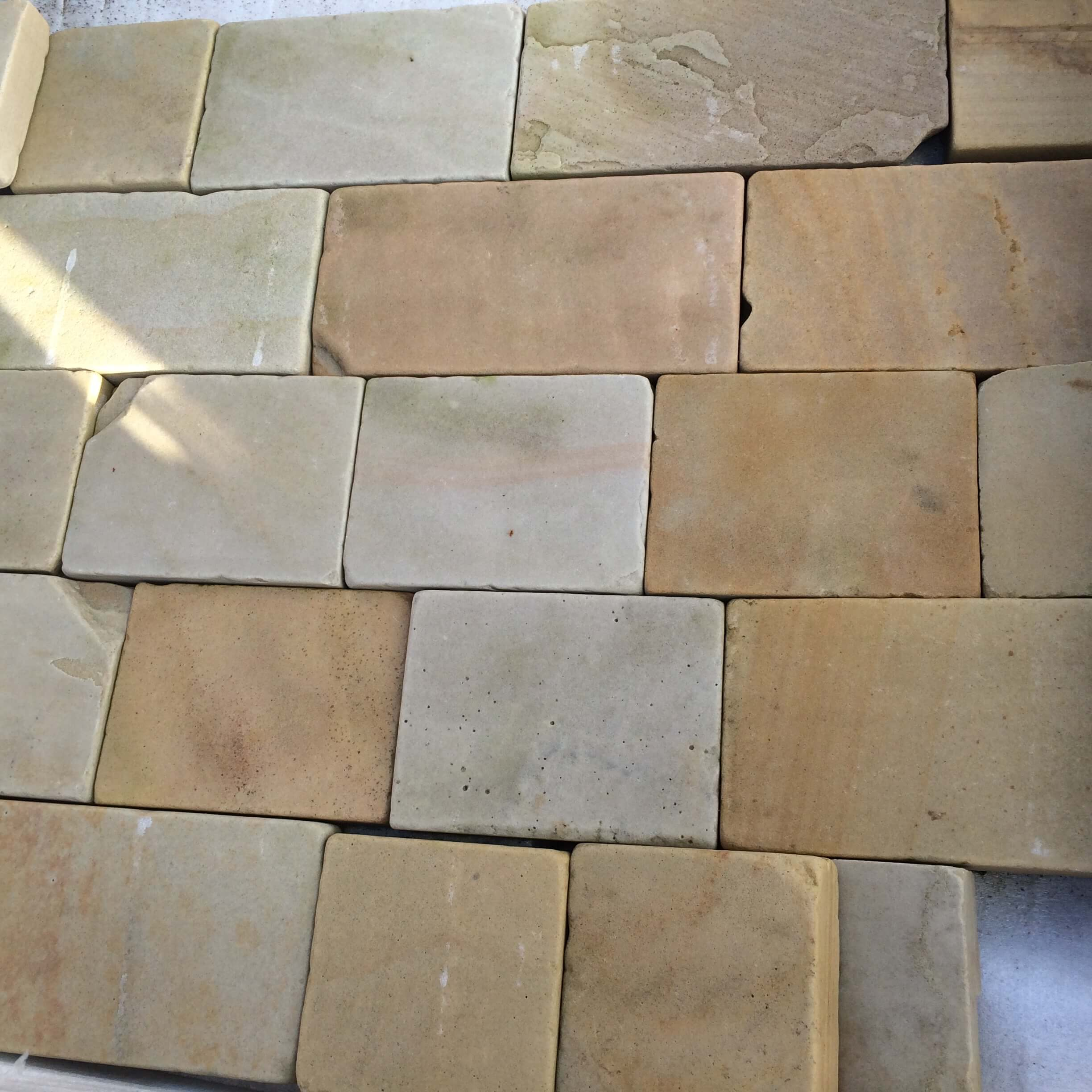 Image for Mint multi sawn and Tumbled Cobble Sett